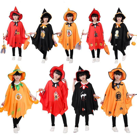 Full Set Halloween Little Witch Girl Costume - Theone Apparel