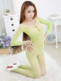 Full Sleeve Crotchless Body Stocking - Theone Apparel