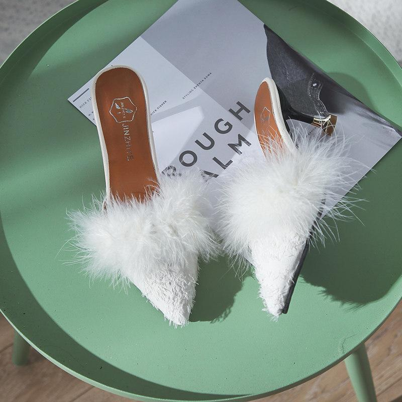 330180419a Fur Trim Pointed Toe Kitten Heels. Size Charts. Imperial