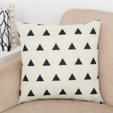 Geo Splice Triangle Print Pillow Covers