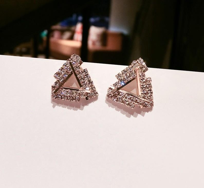 Dazzling Triangle Cutout Stud Earrings - Theone Apparel