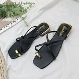 Golden Toe Slip On Sandals - Theone Apparel