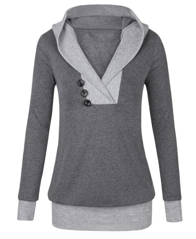 Chunky Collar 3 Button Sweater - Theone Apparel
