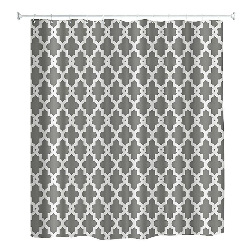 Geometric Water Resistant Shower Curtain