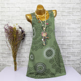 Abstract Mandala Print Summer Dress - Theone Apparel