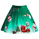 Christmas Snowman Plus Size Skirt