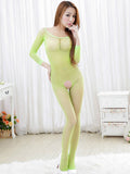 Full Sleeve Crotchless Body Stocking