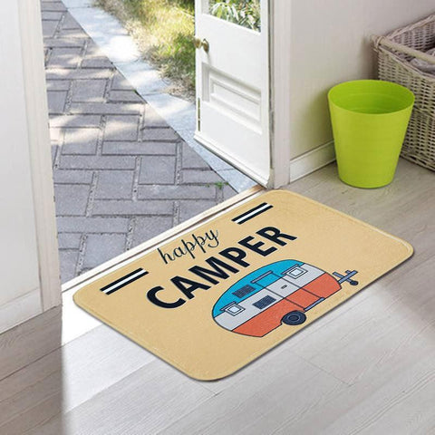Happy Camper Mini RV Door Mat