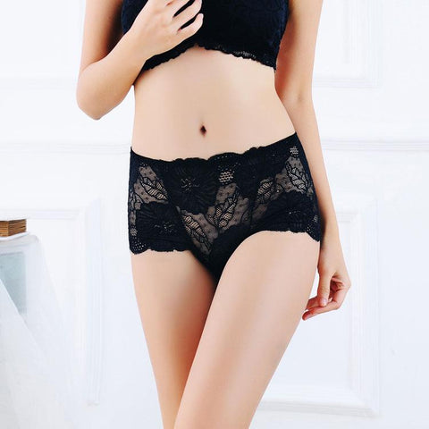 High Waisted Lace Boyshort Panty - Theone Apparel