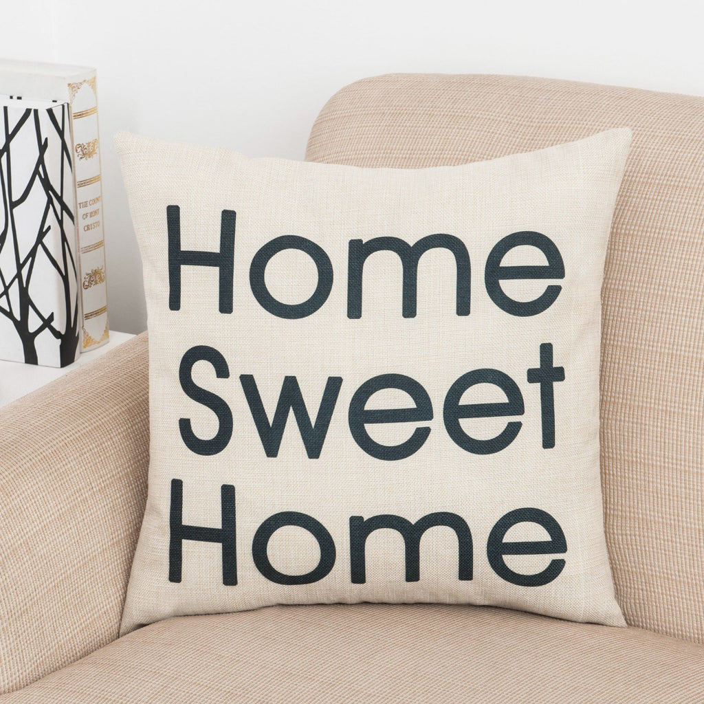 Home Sweet Home Square Pillow Cover