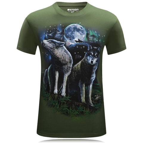 Howling Wolf Duo Scenery Shirt