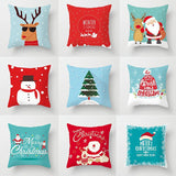 Ice Blue Christmas Themed Pillow Covers