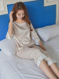 ¾ Sleeve PJ Pants Set - Theone Apparel
