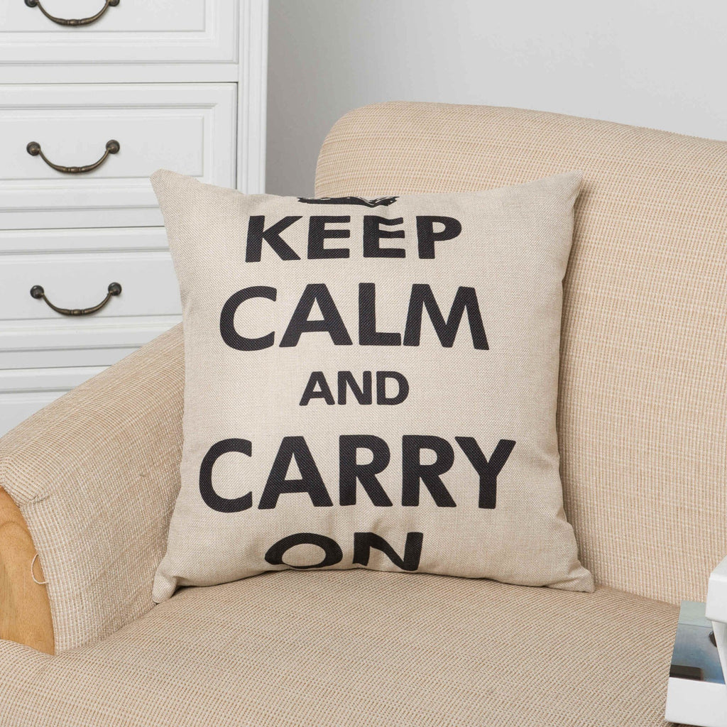 Keep Calm Carry On Pillow Cover
