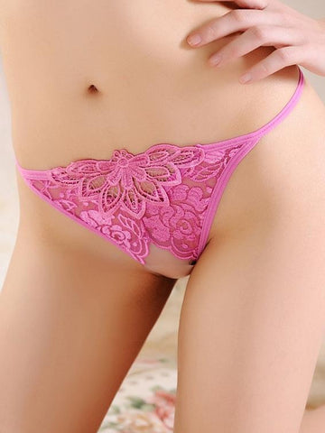 Lace Front Crotchless Micro G-String - Theone Apparel