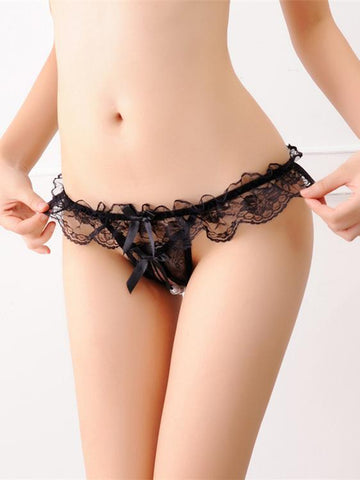 Lace Skirt Crotchless G-String Panty - Theone Apparel