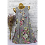 Lace and Bouquets Summer Dress