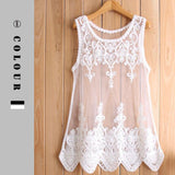 Lacy See Through Mesh Layering Tank