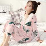 Lacy Tropical Floral Sleepwear Set - Theone Apparel