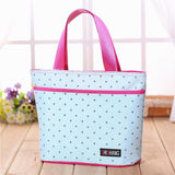 Large Preppy Print Tote Bag