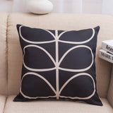Leaf Drawing Print Pillow Covers