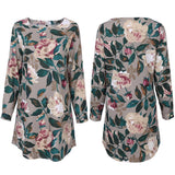 Casual Fit Floral Print Sweater - Theone Apparel