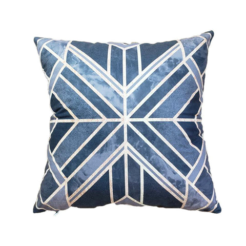 Luxurious Geo Spliced Pillow Covers