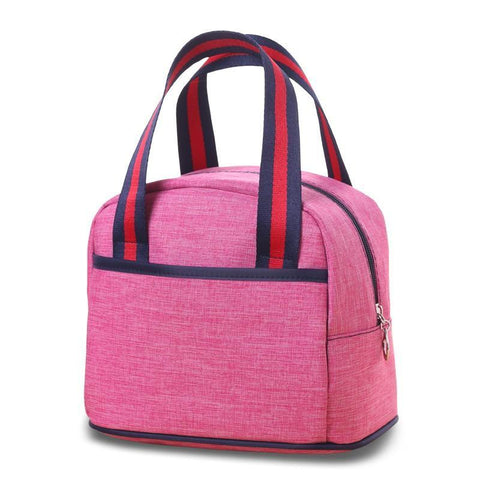 Medium Round Top Zipper Tote