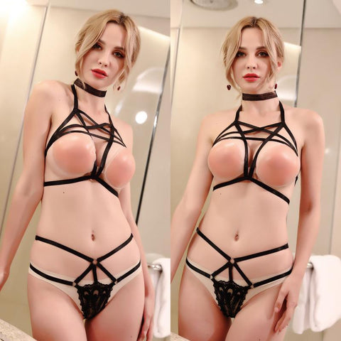 Misbehave Bondage Cupless Bra And Panties