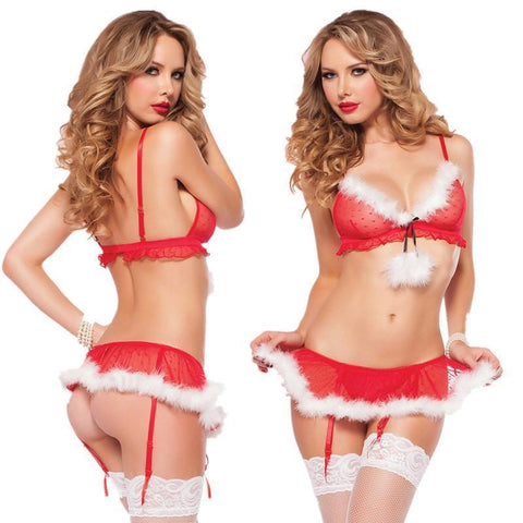 Miss Saint Nick Lingerie Set