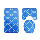 Modern Greek Link Bath Mat Set