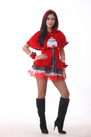 Naughty Little Red Riding Hood Halloween Cosplay Costume - Theone Apparel