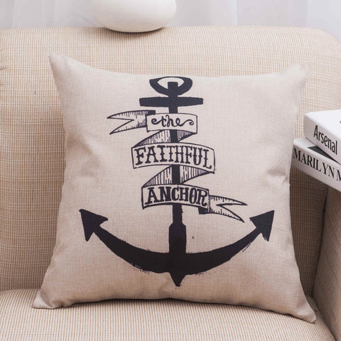 Nautical Navy Inspired Pillow Covers