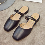 Open Ankle Strap Ballet Slides