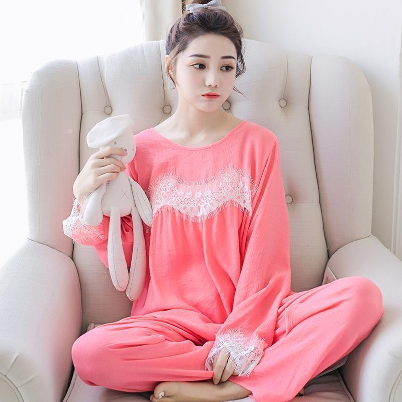 Lightweight Lace Cuff Sleepwear Set