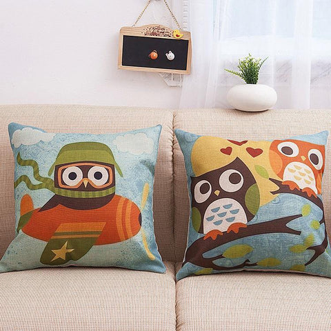 Owl Cuties Kids Square Pillow Cover