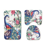 Peacock and Peonies Bath Mat Set