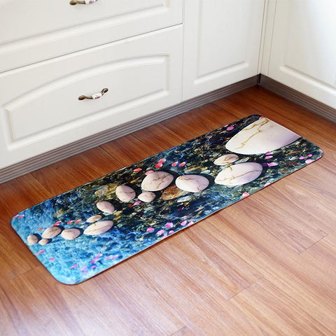 Pebbles and Stone Cushioned Kitchen Mat