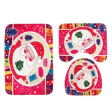 Santa Claus Pattern Bathroom Set
