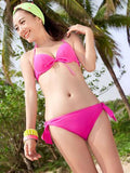 Simple pink ribbon design bikini
