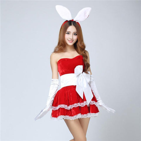 Pretty Bunny Rabbit Lingerie With Ears