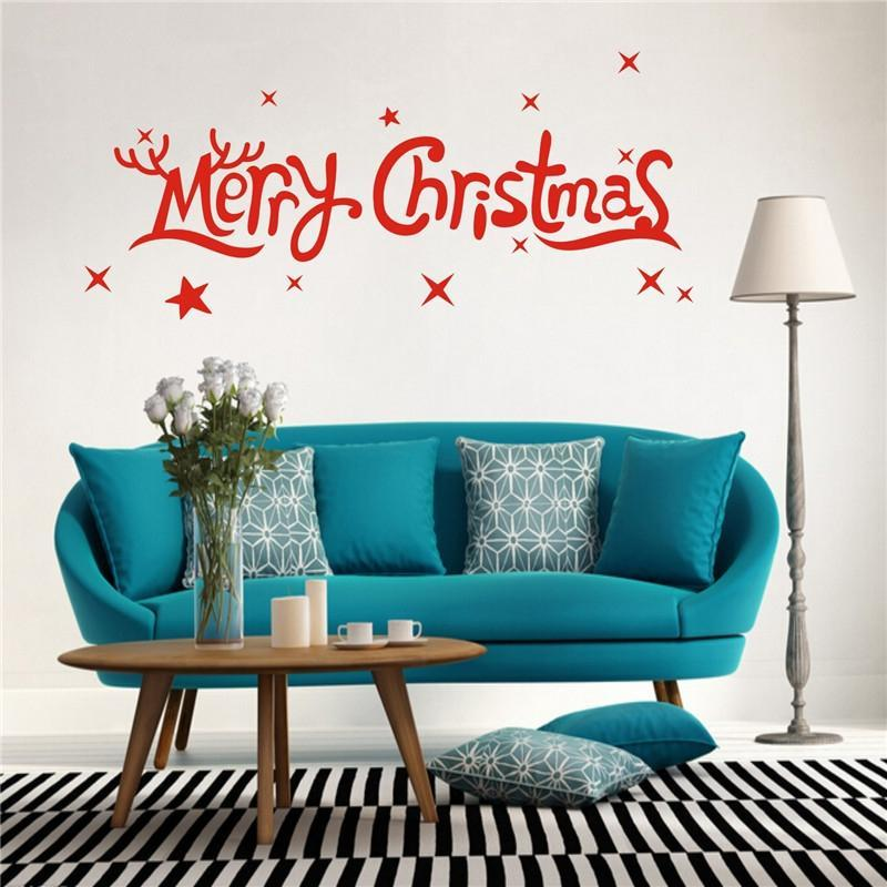 Removable Merry Christmas Wall Stickers