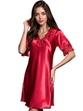 Satiny Ruffles Nightgown