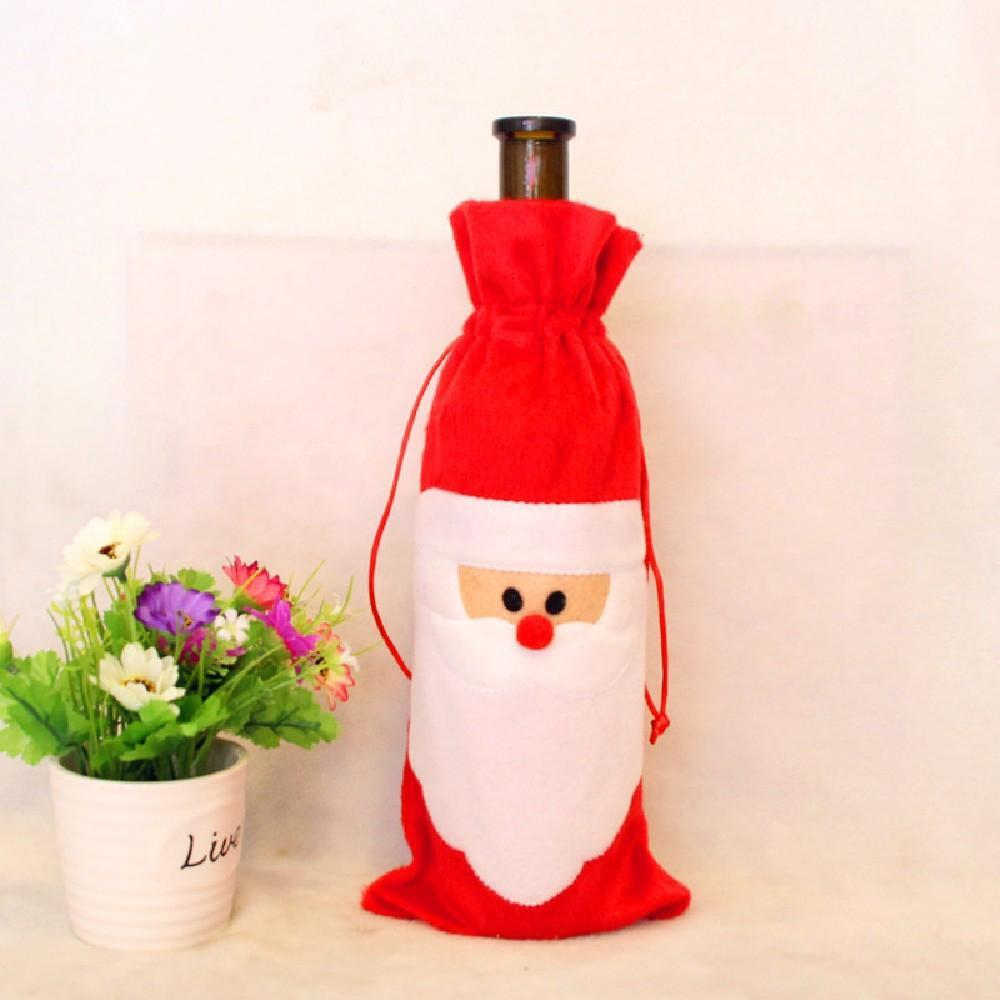 Decorative Christmas Wine Bottle Cover Bag - Theone Apparel
