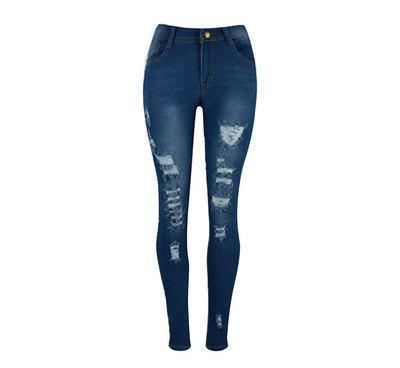 Ripped High Waist Skinny Jeans - Theone Apparel