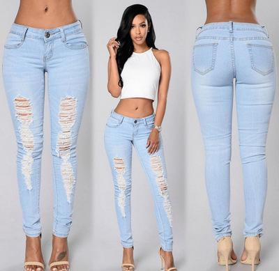 Ripped Light Wash Skinny Jeans - Theone Apparel