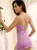 Romantic Mesh and Lace Chemise Set - Theone Apparel