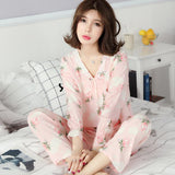 Ruffle Cuffs Floral Sleepwear Set - Theone Apparel