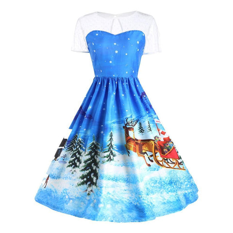 Santa Claus Christmas Party Gown