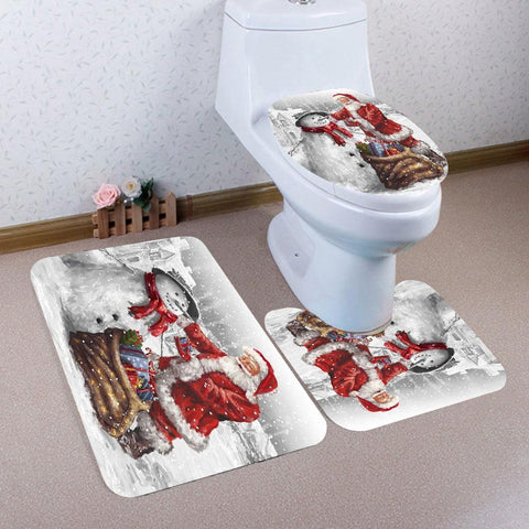 Santa Claus and Snowman Bathroom Set